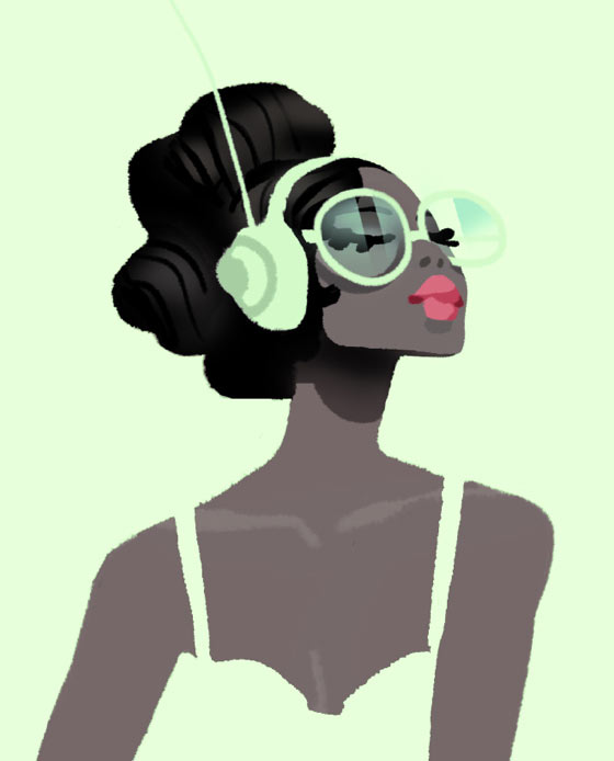 Simple feminine illustrations by Oren Haskins