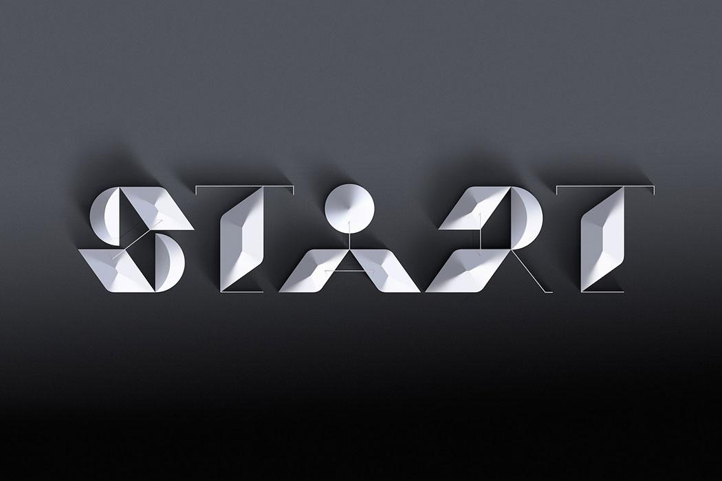 Identité visuelle, typographie et images créées par Sawdust