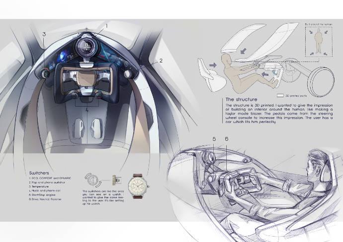 Brieuc Masson, FR, automotive design student