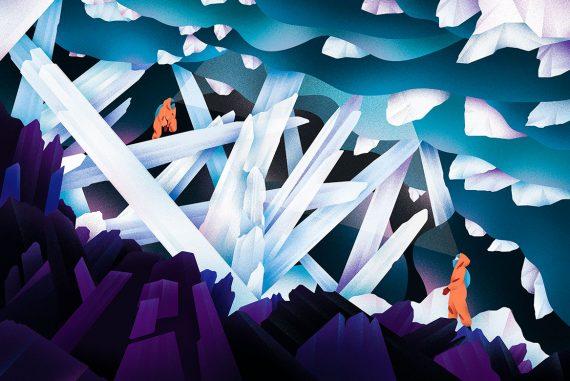 Les illustrations inspirées du cosmos par Victoria Roussel