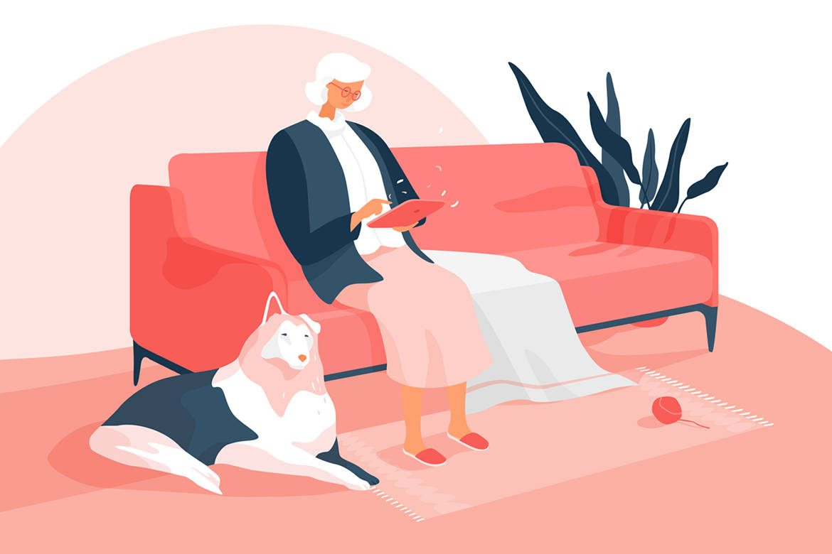 Illustrations pour le web par Vera Voishvilo