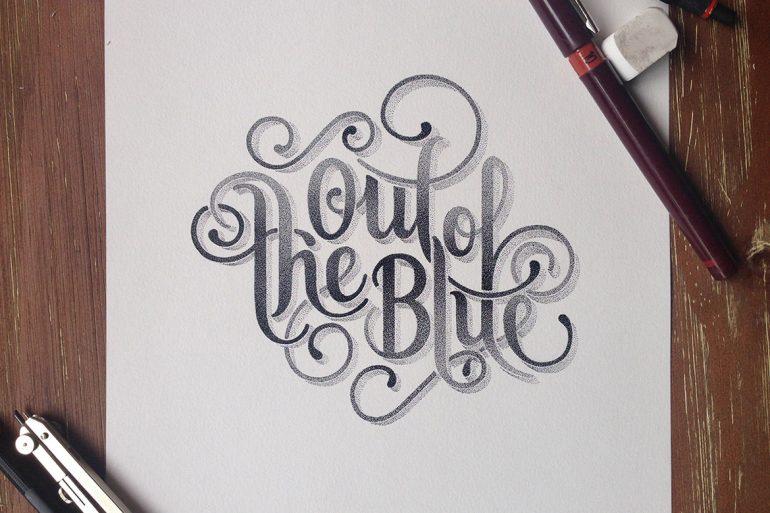 Typographies pointillistes par Xavier Casalta