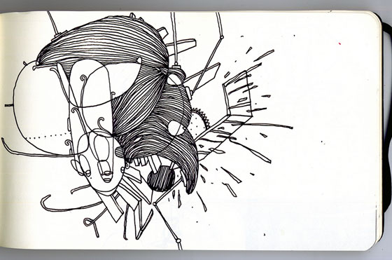 Will Scobie, one continuous line