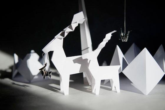 Delicate origami by Mathilde Nivet