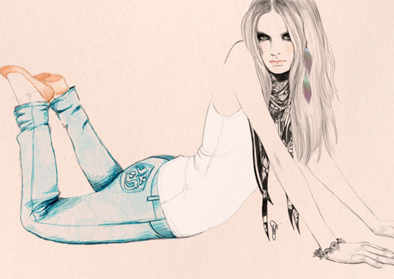 Les illustrations de mode de Sandra Suy