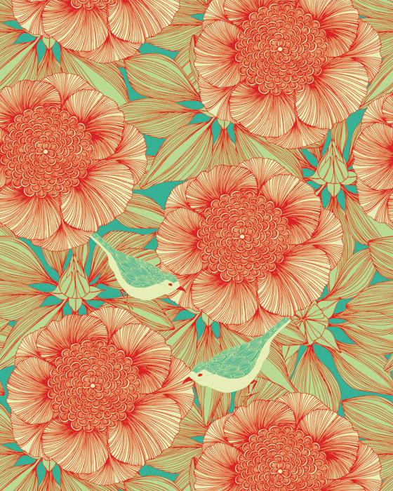Création de motifs textile : Camilla Meijer