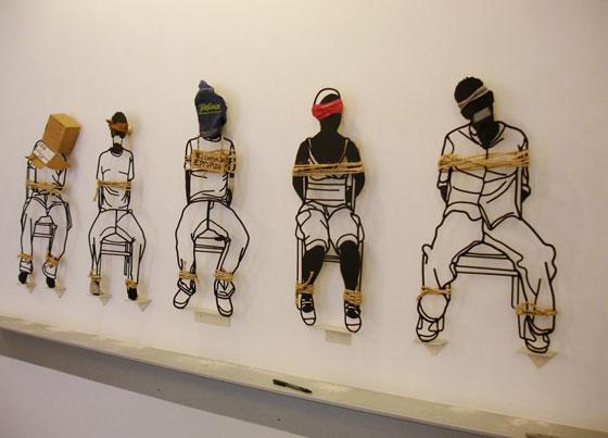 Sculptures métalliques par l'artiste Frank Plant