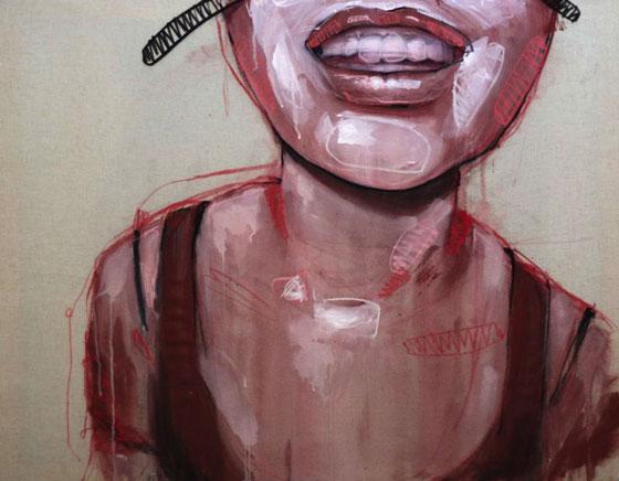 La force des portraits peints de Lou Ros