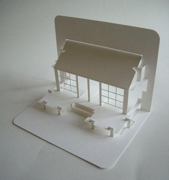 Popupology, architecture origamique par Elod Beregszaszi