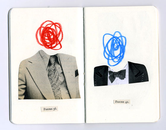Anthony Zinonos, collages vintage minimalistes