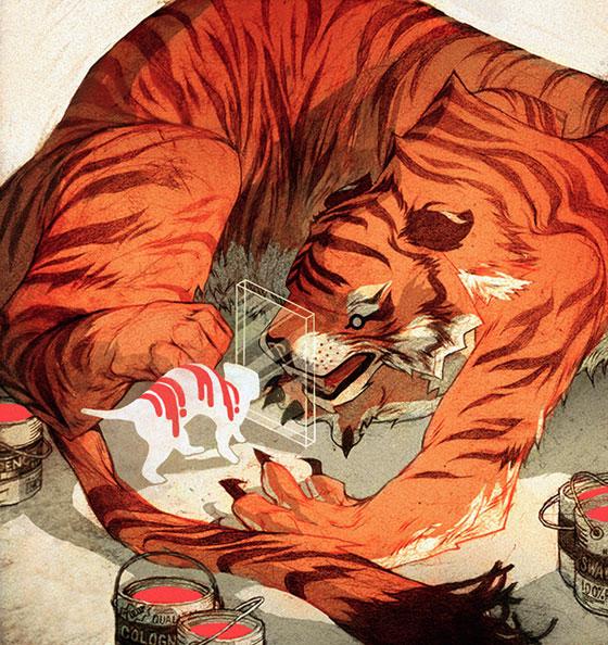 Belles illustrations déstructurées par Sachin Teng