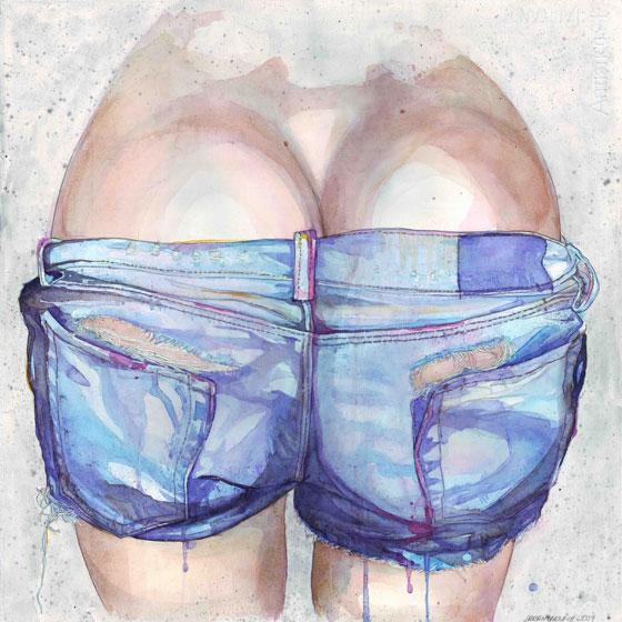 Illustrations légèrement érotiques par Sarah Larnach