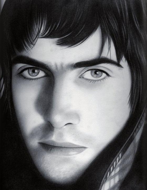 Carmen Ortiz, portraits dessinés réalistes