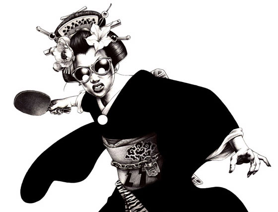 Les illustrations punk-rock de Shohei Otomo (Hakuchi)