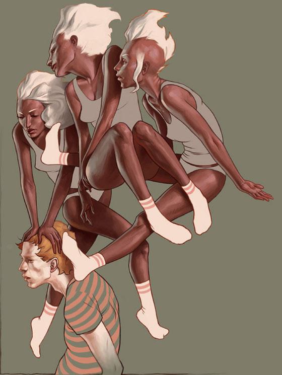 Peintures et croquis surréalistes par Jeremy Enecio
