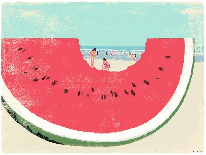 Delicate vintage illustrations by Tatsuro Kiuchi | Partfaliaz