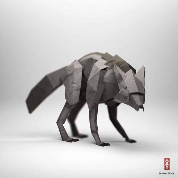 3D origami style illustrations by Jeremy Kool   Partfaliaz