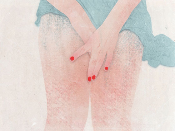 Delicate illustrations by Peony Yip, the white deer