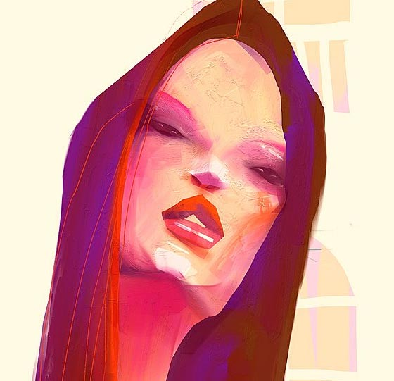 Expressive fashion illustration by Natasha Shaloshvili
