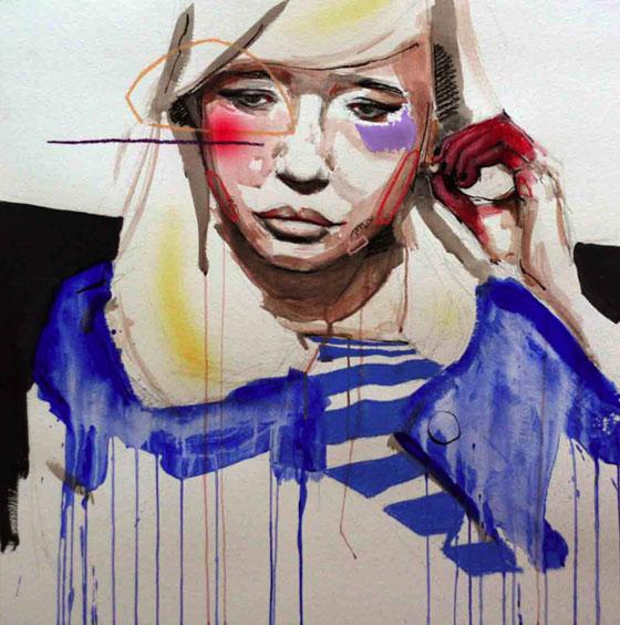 Portraits en mouvements peints par Lou Ros