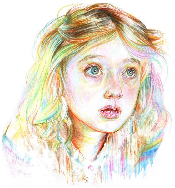 Portraits and landscapes drawn by Aline Zalko
