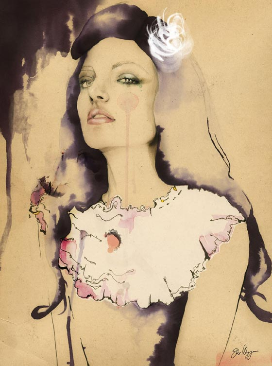 Fashion illustration by Elisa Mazzone