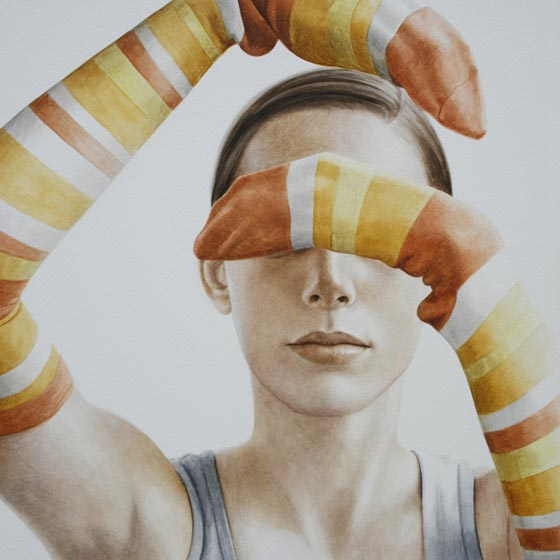 Ali Cavanaugh, painted portraits with socks