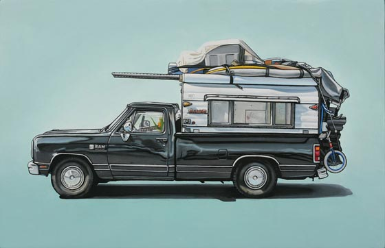 Oil paintings and installations by Kevin Cyr