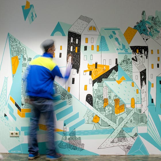Wall painting and other illustrations by Klub7