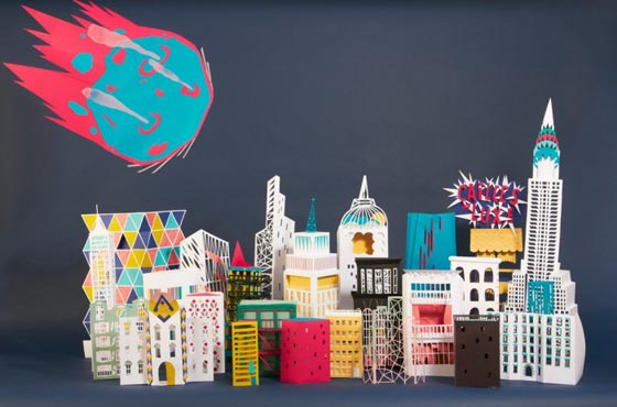 Paper art and set design by Rozenn LG