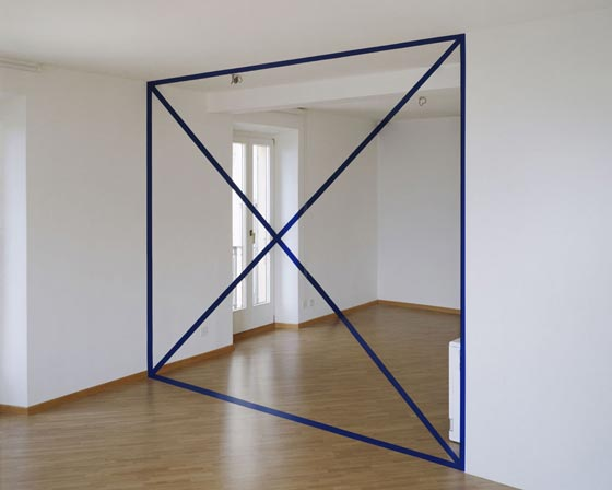 Geometric anamorphosis by Felice Varini