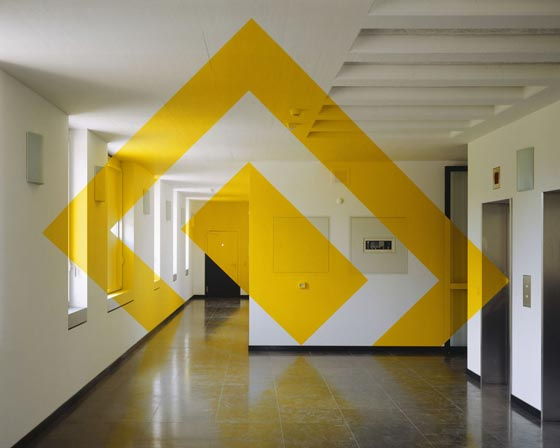 Projected anamorphosis by Felice Varini