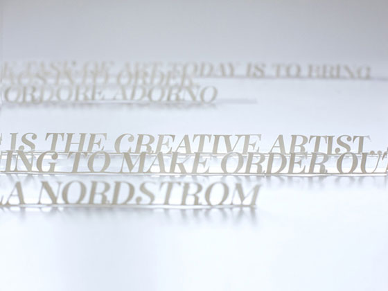 Paper type experiment by Kelli Anderson