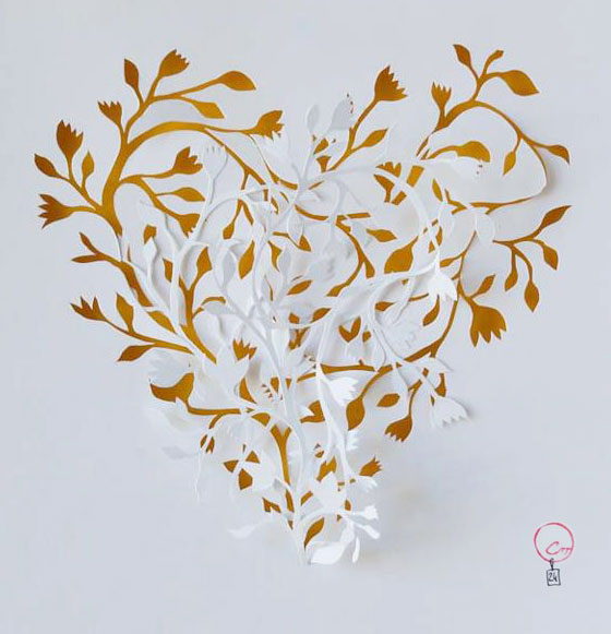 paper art by Marine Coutroutsios