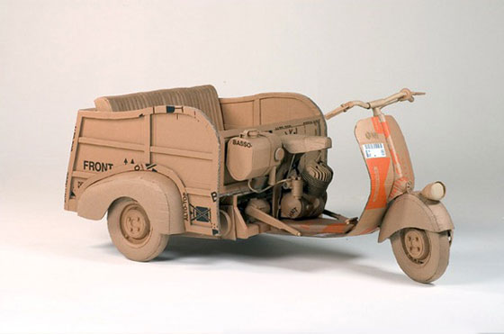 Cardboard objects by Chris Gilmour