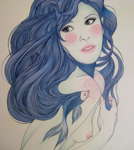 Mercedes deBellard drawing girls