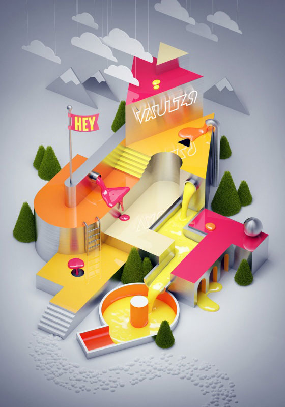 3D et set design par Vault49