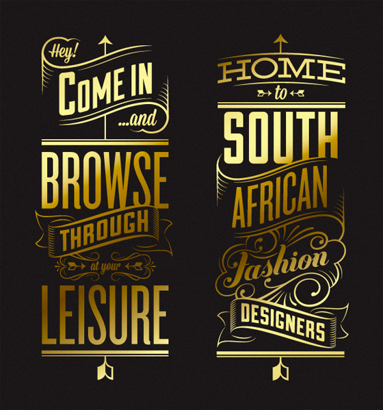 Vintage lettering and illustrations by Hylton Warburton