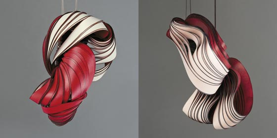 Paper art jewellery and sculptures by Lydia Hirte