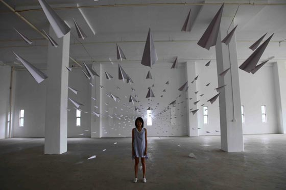 Paper installations and design by Dawn Ng