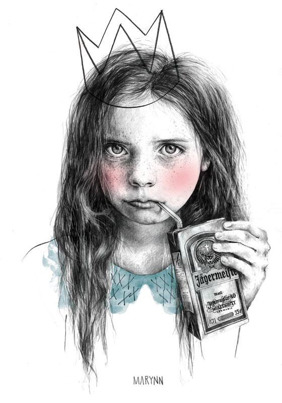 Realistic pencil illustrations by Marynn