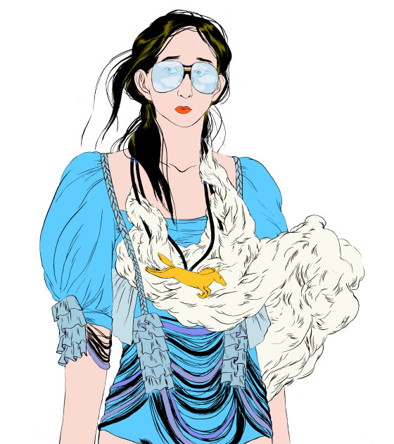 Des illustration de mode-fiction sur le blog Wangie