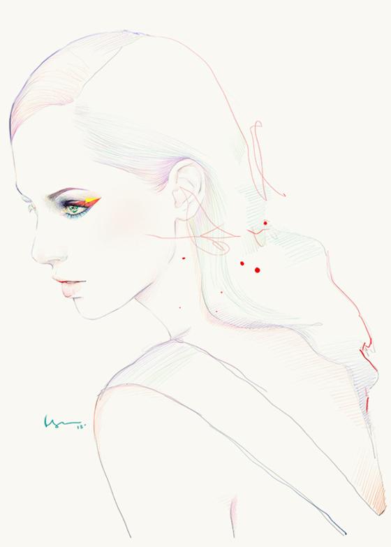 Fashion illustrations by Floyd Grey