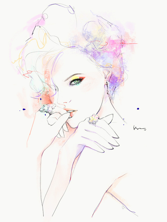 Fashion illustrations by Floyd Grey