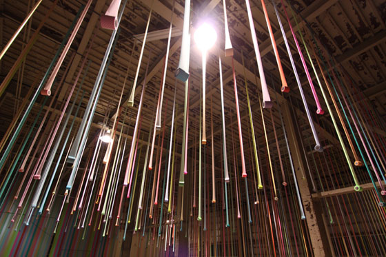 Masking tape installation by Koji Iyama