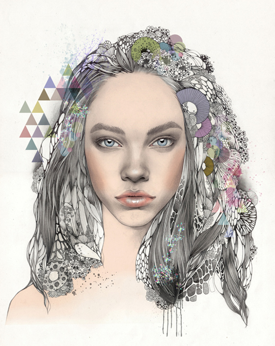Fashion-inspired illustrations by So Hyeon Kim