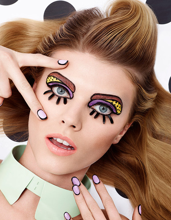 Lacey shot for Vogue Japan using Craig & Karl illustrations