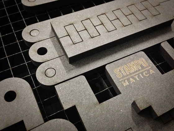 3D printed letterpress machines: Stampomatica