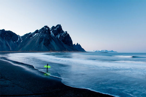 Iceland surf by photographer Chris Burkard