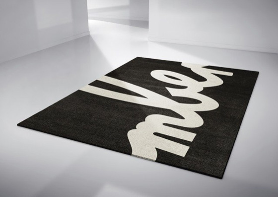 Typographic rugs by Linus Dean
